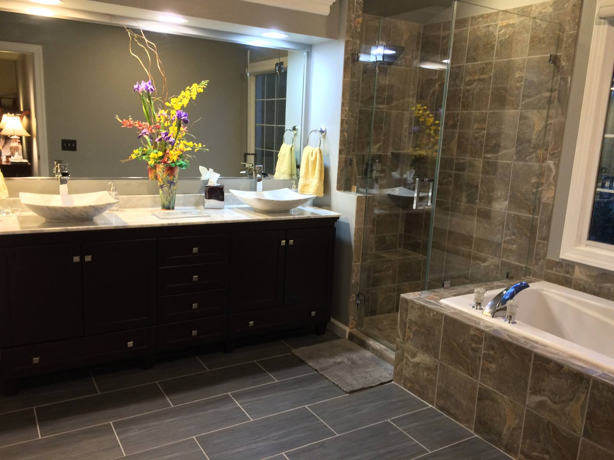 Bathroom remodel after photo