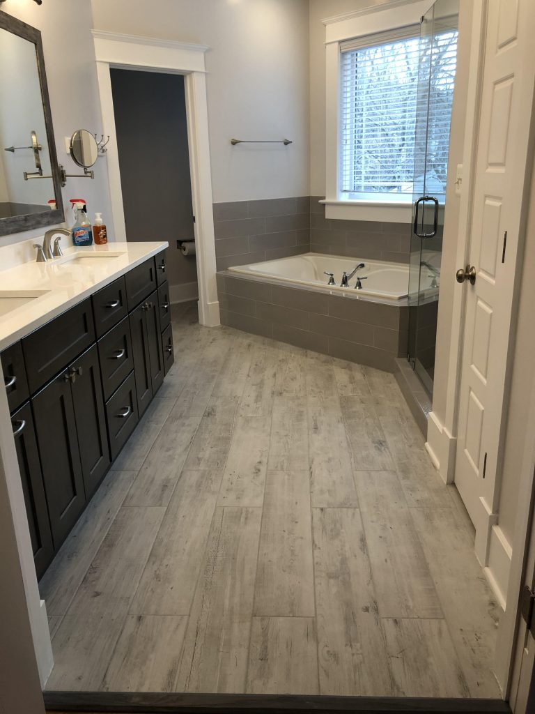 Bathroom remodel and flooring