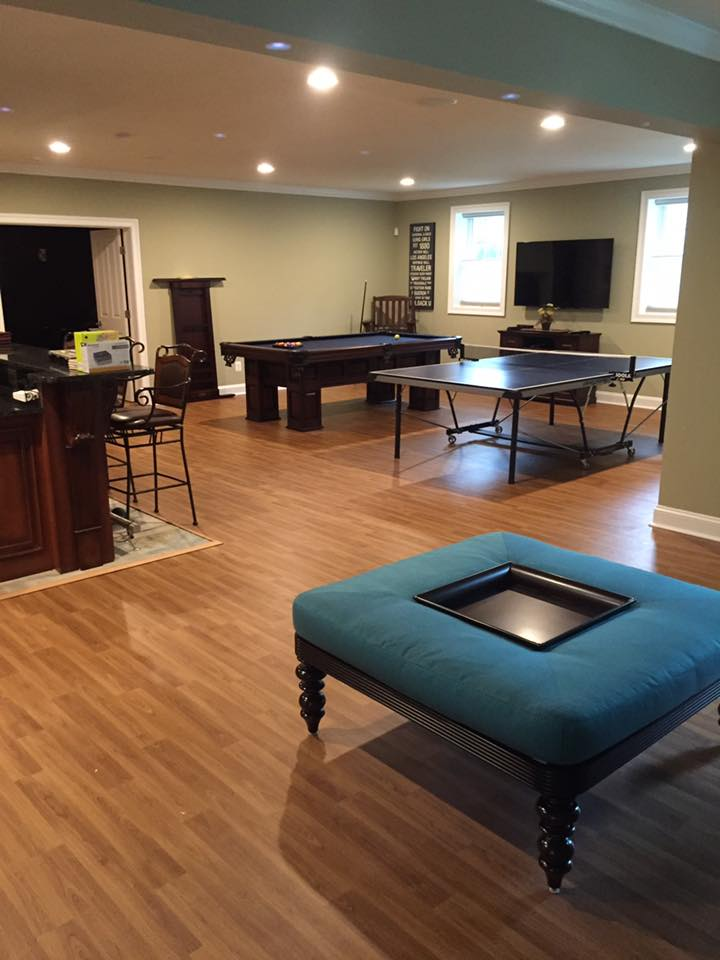 game room remodel and flooring