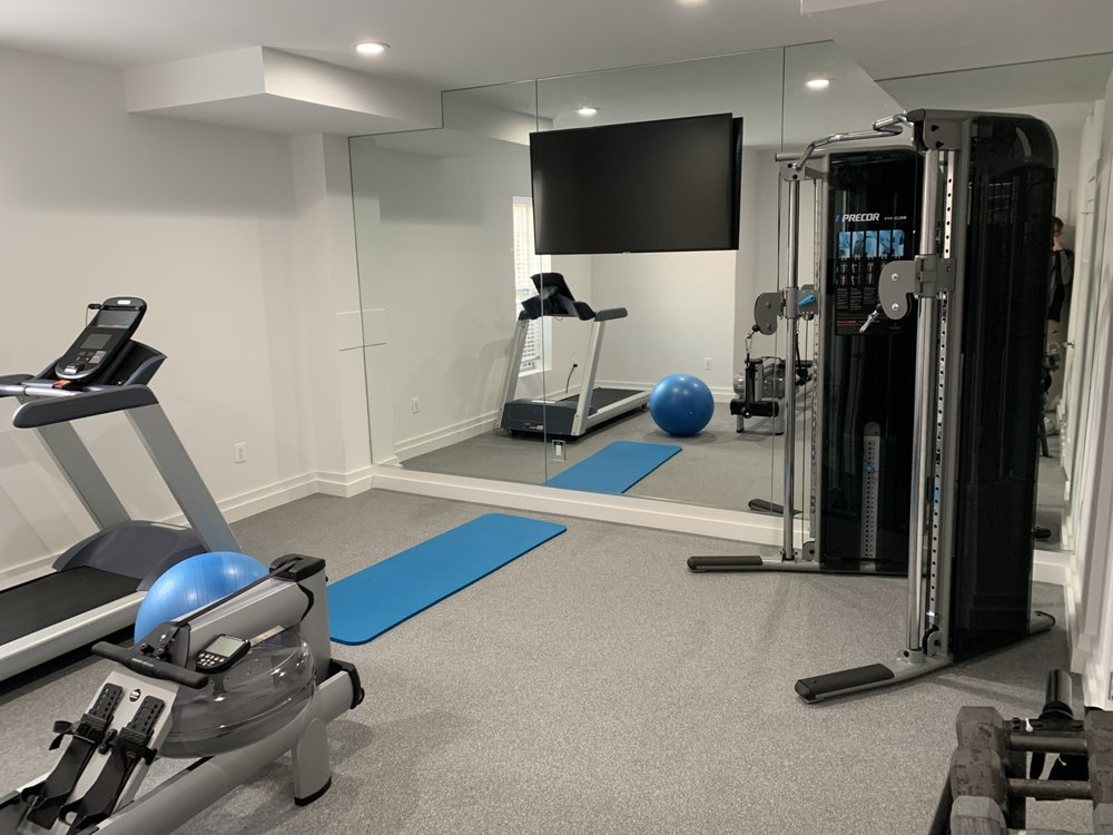 Custom home gym flooring