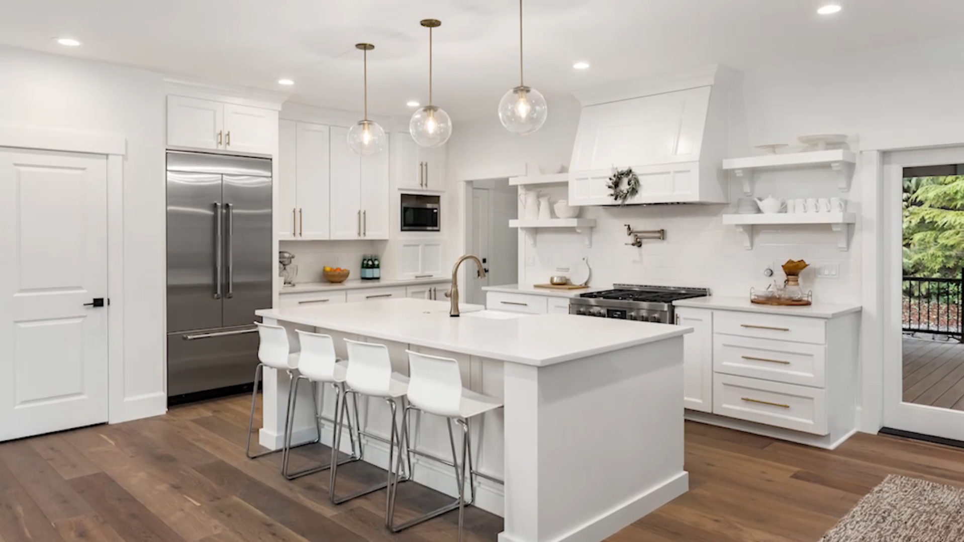 Clean and modern kitchen remodel with all white material